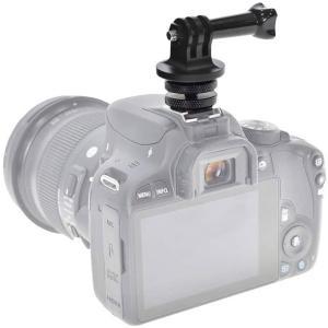 一眼レフカメラなどのアクセサリーシュー(フラッシュ取り付け部)に、GoProカメラやスマートフォン、...