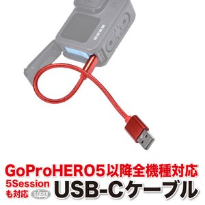 GoPro用 (HERO8/HERO7/6/5/HERO5Session対応) USB-Cケーブル ...