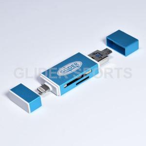 iOS/ Android /PC用マルチカードリーダーです。 MicroSD/SDカード両対応。Li...
