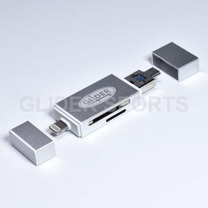 iPhone ライトニング Lightning カードリーダー 銀 MicroSD・SDカード / ...