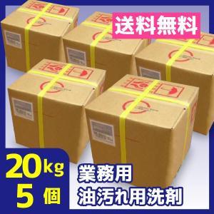 業務用油汚れ用洗剤 アルカリ性 20kg 5個 無色透明 送料無料 アラウAB|meikenshop
