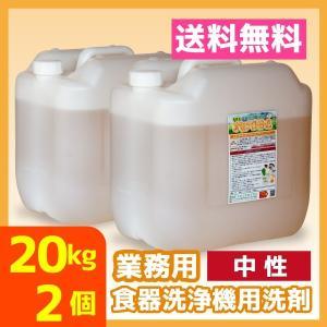 業務用食器洗浄機用洗剤 20kg 2個 中性 送料無料 食洗器 オセナS-B-A|meikenshop