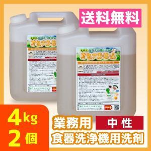 業務用 食器洗浄機 食洗器 洗剤 送料無料 4kg 2個 中性 オセナS-B-A|meikenshop