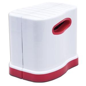足を台に置くことでひざが上がり、和式トイレでしゃがむ姿勢に近い形になるので、力み易くなります。使うと...