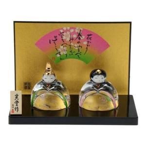 ひな人形 玻璃座雛 桜飾り meisei-interior