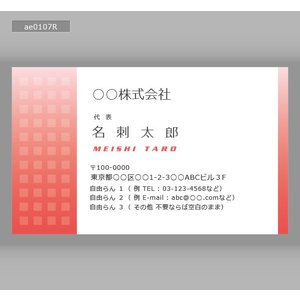 カラー名刺(100枚送料込み)ae0107|meishidas