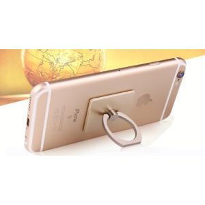お試し【スマホスタンド 指輪型 バンカーリング /ゴールド】 落下防止 リングスタンド スマホリング Ring iphone スマートフォン