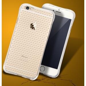 お試し【iphone6/6s専用 4.7インチ 衝撃吸収 TPU 二重保護 点点付き】TUP シリコン ソフトケース 透明 薄型 iphone6 iphone6s ケース カーバー 耐衝撃