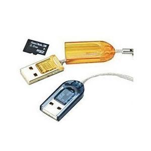 【ポイント消化に最適】【送料無料】マイクロSDカード用 USB カードリーダー ライター 【microsdhc 2GB 4GB 8GB 16GB 32GB】 【お色指定不可】