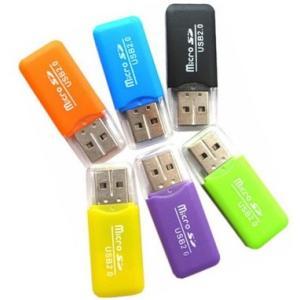 【お試し】[蓋付 TYPE-B]マイクロSDカード用 USB カードリーダー【microsdhc 2GB 4GB 8GB 16GB 32GB 64GB対応】お色指定不可