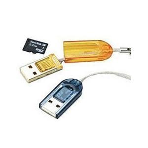 【お試し】マイクロSDカード用 USB カードリーダー ライター 【microsdhc 2GB 4GB 8GB 16GB 32GB】 【お色指定不可】