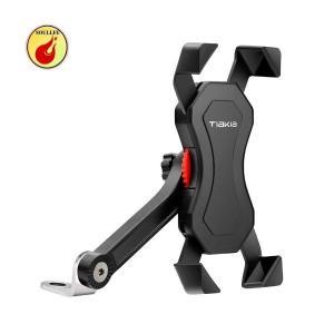 Tiakia バイクスマホ スマートフォンホルダー 携帯固定用 防水 360度回転 脱落防止