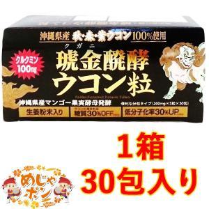ウコン サプリ もろみ酢 発酵 沖縄県産 おすすめ 琥金醗酵ウコン粒 30包入×1 mejapon