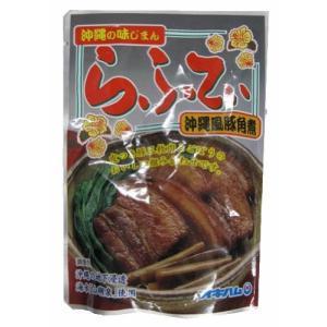 豚肉 豚三枚肉 食品 ポイント消化 沖縄 ラフティ オキハム 角煮 ゴボウ入り 165g×1個 お土産|mejapon