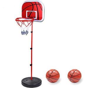 Pellor ミニ バスケットゴール バスケットボール 子供用 高さ調整可能 170cm ボール付き 室内 屋外用|meki