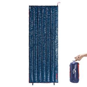 Naturehike1人用 高級ダウン寝袋 570g 超軽量 封筒型 オールシーズン 防水 シュラフ...