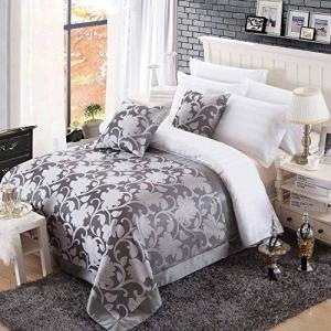 OSVINO ベッドスプレッド ベッドカバー 華やか エレガント ヨーロッパ 花柄 汚れ防止 除塵 雰囲気転換 ジャガード織り ホテル 自宅用 客間|meki