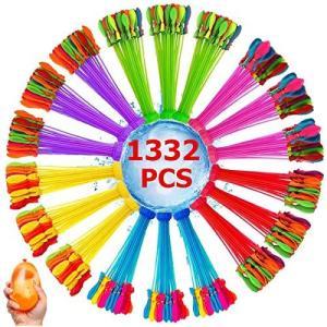 Hifinger 水風船 大量 1332個(37個*36束)水爆弾 60秒で一気に作れる ウォーターバルーン 水遊び玩具 夏祭り イベント用品 夏の日|meki