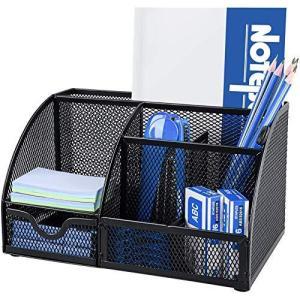 多機能文具収納卓上収納 デスクオーガナイザー ペン立て デスク 収納ケース 文具 収納 小物入れ 筆筒整理 事務用品 格納 オフィス 金属材料 (7格|meki