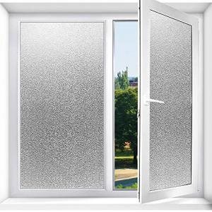 Olliwon 窓 ガラスフィルム 目隠しシート 曇りガラス すりガラス調 プライバシー保護 窓飾りシート 静電吸着 水で貼る 貼り直し可能 シンプル|meki