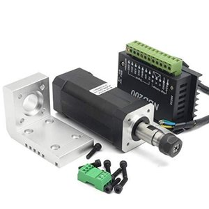 RATTMMOTOR 104W スクエアミニブラシレスDCスピンドル空冷モーター10800RMP ER11 + NBD200 24Vブラシレスモーター meki