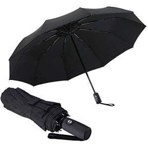 【強耐風10本骨 】折り畳み傘 メンズ 折りたたみ傘 レディス 軽量 - ganamoda ワンタッチ自動開閉式 耐風 撥水加工 晴雨兼用 おしゃれ|meki