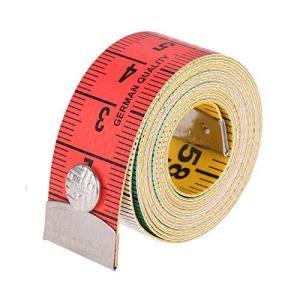 レインボーメジャー テープメジャー 裁縫用メジャー 両面 150cm ボディ測定定規 スナップ付き 可愛い|meki