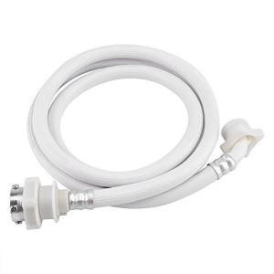 自動洗濯機給水ホース 洗濯機ホース 洗濯機水注入口ホース 洗濯機ウォーターインレットホース ワッシャーパイプチューブ コネクター ホワイト(2m)|meki
