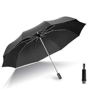 折りたたみ傘 自動開閉【2021最新版 飛び出し防止機能】軽くて頑丈な10本骨 UVカット 晴雨兼用 おりたたみ傘 超撥水 メンズ レデイーズ 大きい|meki