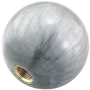 Lunsomラウンドシフトノブボール形状シフトノブユニバーサルオートマニュアル車 (グレー)|meki