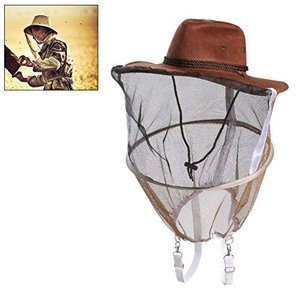 Fallve 蚊取り防止キャップ 養蜂帽子 通気 日よけ帽子 虫除け 害虫駆除 蜂 駆除 ぶよ 蚊 対策 虫よけ 帽子虫よけネット 養蜂迷彩キャップ meki
