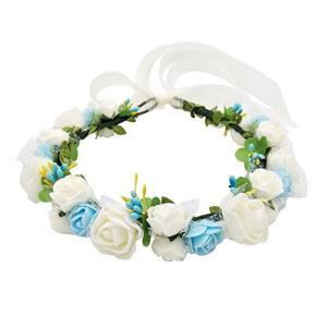 ハナ(HANA) お花の 冠 花冠 ヘッドドレス 髪飾り ヘアアクセサリー ウェディング ダンス衣装 ライブ フェス パーティーなどイベントに|meki