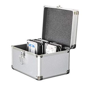 Seaocloud 3.5インチ ハードディスク 保護ケース 10台収納 HDD収納 ボックス 3.5インチHDD 本体收容 アルミ製保管ケース 堅固|meki