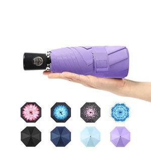 新昇級版おりたたみ傘 軽量 折りたたみ傘 強風に耐えられ 超撥水 自動開閉折り畳み傘 メンズ レディース 晴雨兼用 完全遮光(紫色)|meki
