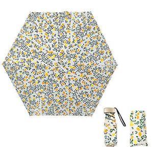 折りたたみ傘 UVカット 日傘 レディース 超軽量 梅雨対策 晴雨兼用 超撥水 携帯しやすい コンパクト収納ポーチ付き (ホワイト1)|meki