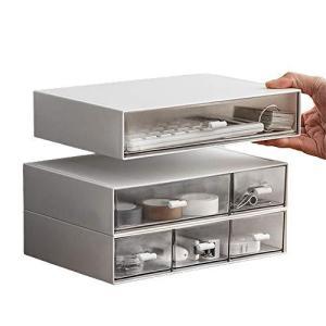 卓上小物ケース 小物入れ引き出し レターケース 書類ケース 収納ボックス 小物収納ボックス  三段 透明 卓上 文房具 化粧品 事務用品|meki