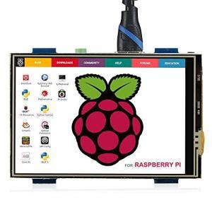 ELECROW 3.5インチ モバイルモニター Raspberry Pi用 3.5インチ モニター タッチパネルモニター HDMI LCD ディスプレ|meki