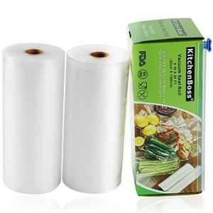 KitchenBoss 真空ロール 真空パック袋 カッター付き カットボックス付き 真空パック機専用袋 真空包装袋 真空ビニール 専用抗菌袋 BPAフ|meki