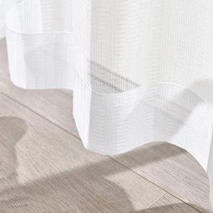 Hansleep レースカーテン 2枚 ホワイト 幅100cmx丈198cm UVカット ストライプ レースカーテン 遮熱 遮像 保温 省エネ 北欧|meki