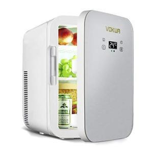 VOKUA 冷蔵庫 小型 10L ミニ冷蔵庫−9℃~65°C でポータブル 家庭 車載両用 保温 保冷 温度調節 温度表示 AC/DC 便利な携帯式|meki