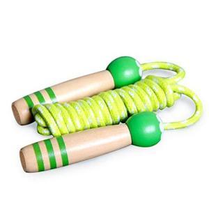 HIASU 縄跳び 子供用 なわとび ジャンピング ロープ 木製グリップ 長さ調整可能 大人用 幼児 体育祭 運動 ダイエット meki