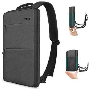 ZINZ 超薄 拡張可能 15 15.6 16インチ PCバックパック ビジネスリュック USB充電ポート通勤 通学 旅行 パソコン バッグ - 濃い|meki