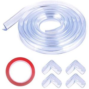 GEQ-Distance コーナークッション 3M + 4 個 透明 コーナー ガード 赤ちゃん けが防止 かんたん 取り付け 両面テープ付き 多目的|meki
