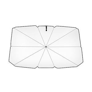 Timian 車のサンシェードカーテン折りたたみ傘タイプ遮光・断熱チタンシルバーアウターUVカットサンシェード簡単設置 (79*145)|meki