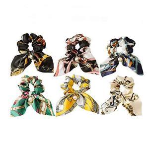 ヘアゴム レディース パール リングゴム シュシュ スカーフ 成人 髪飾り 少女 手作り リボン ヘアアクセサリー meki