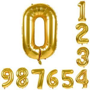 BLATOMY 0-9 数字 誕生日 バルーン、アルミハンギングホイルバルーン、デジタル パーティー風船、に適用す る結婚式の誕生日婚約記念日( ゴー meki