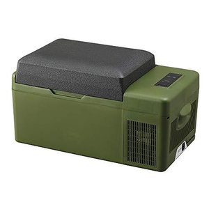 アイリスプラザ 車載冷蔵庫 カーキ 20L スピード冷却 -20℃〜20℃ スマホ充電可能 PCR-20U-G|meki