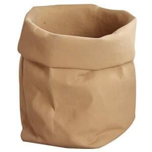 VORCOOL 植木鉢 花鉢 造花鉢 盆栽鉢 セメント 鉢 観葉植物 円筒形鉢 おしゃれミニ クラフト袋みたい 観葉植物 サボテン 多肉 底穴なし meki