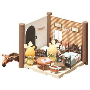 ハコルーム くまのがっこう ふたごのこども部屋キット 色分け済みプラモデル meki