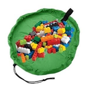 HOPIC おもちゃ 片付け プレイ マット お片付け 収納 袋 直径45cm (ミニサイズ:グリーン)|meki